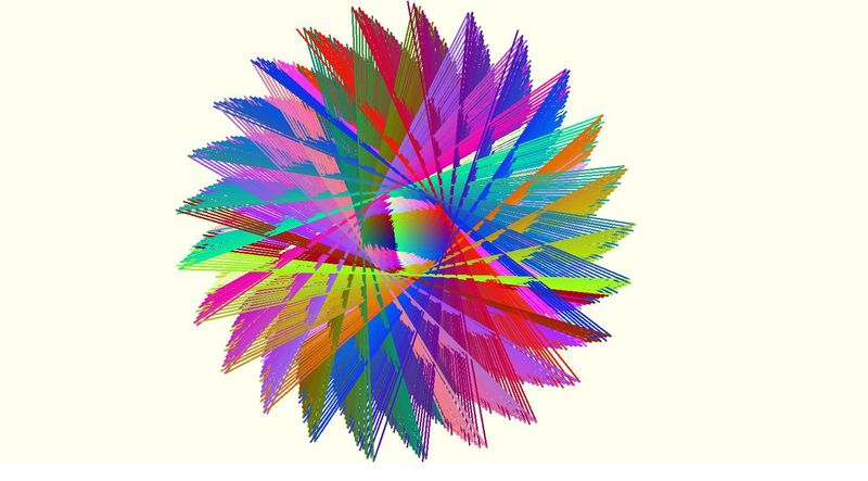 pastel feathered sun
